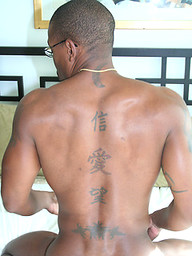 Black stud take a shower and jacking off