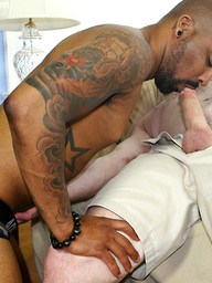 Silver daddy Lee Silver and Drew Vergas fuck